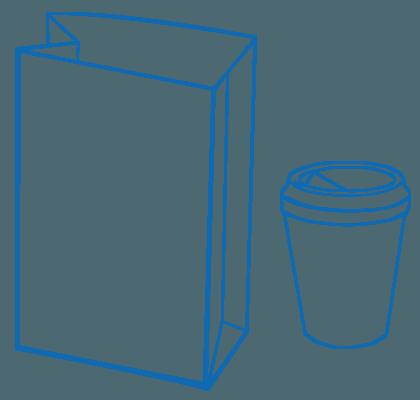 BAGMAN Apothekertüten und Coffee to Go Becher
