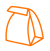 Bagman Lunchtüten Icon Orange