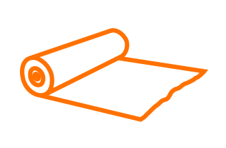 Bagman Rollenpapier Icon Orange