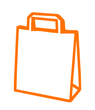 Bagman Tragetaschen Icon Orange