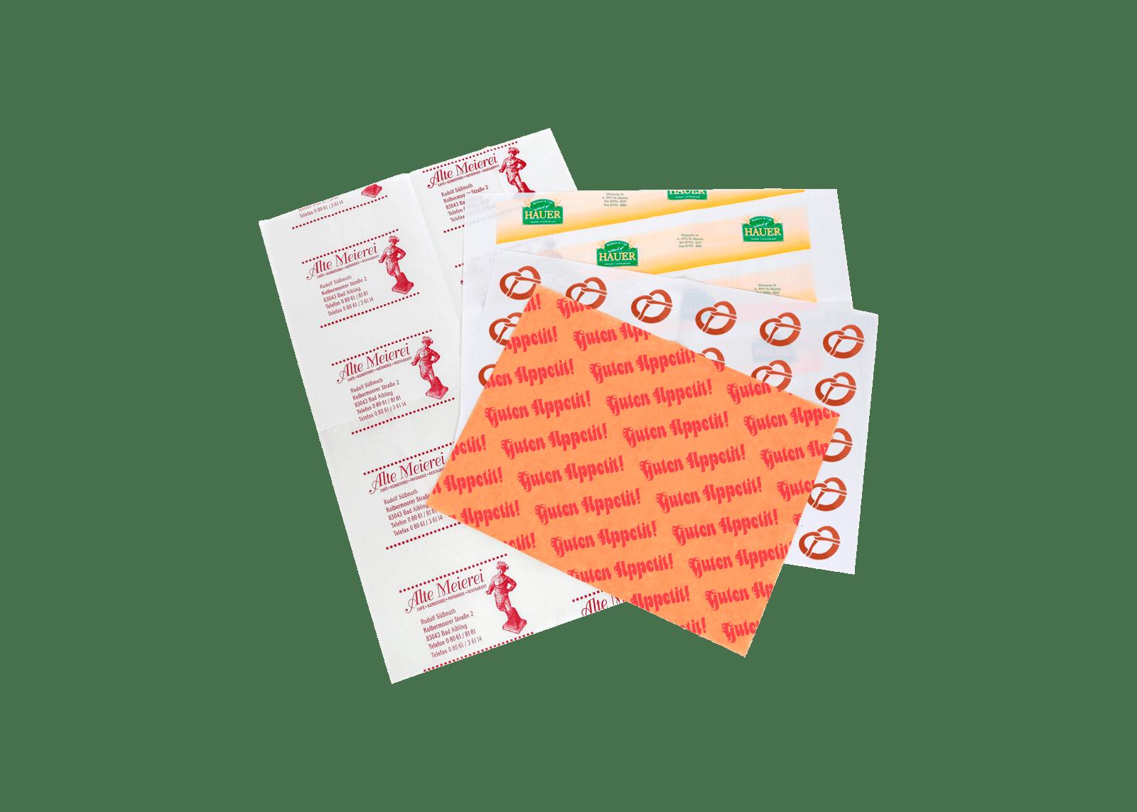 Formatpapier für Konditoreien