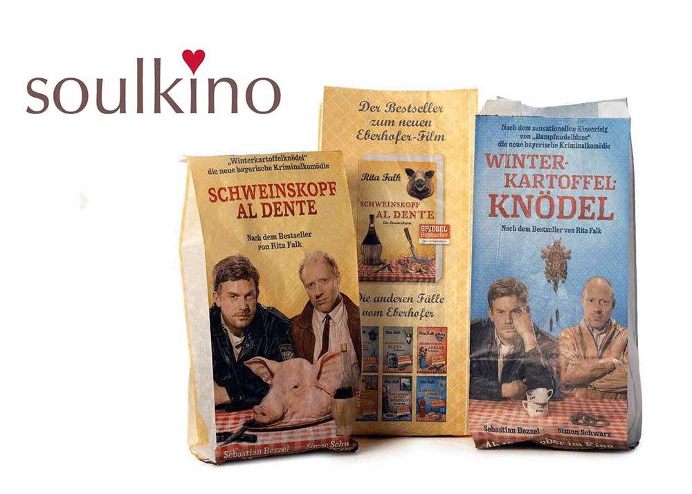 Bagman - Ihr Verpackungspartner - Referenz Soulkino Faltenbeutel, Werbetüten