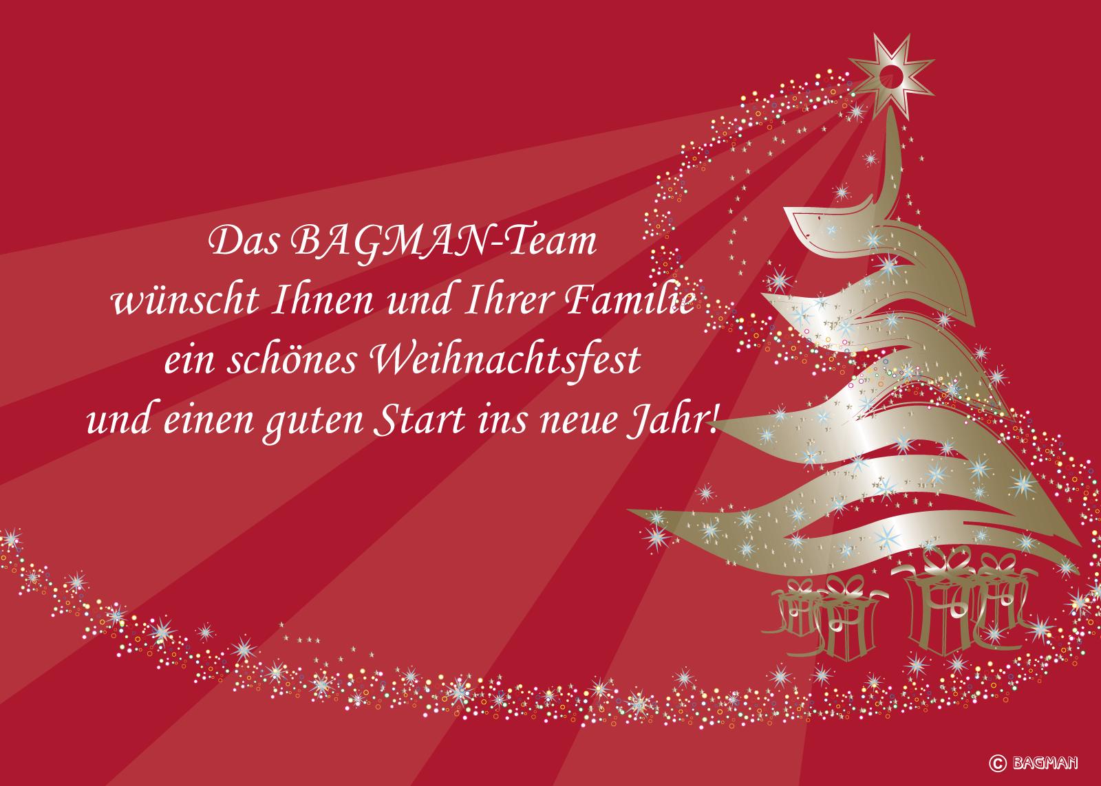 BAGMAN wünscht Frohe Weihnachten
