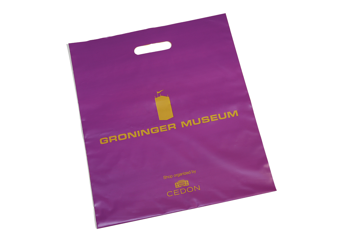 Unterseite Plastiktragetaschen Kunde Groninger Museum