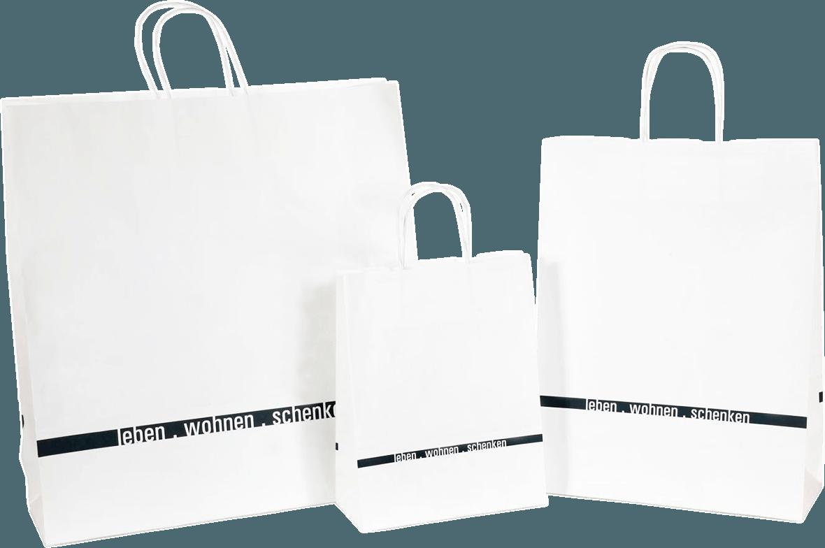 Papiertragetaschen mit Papierkordel
