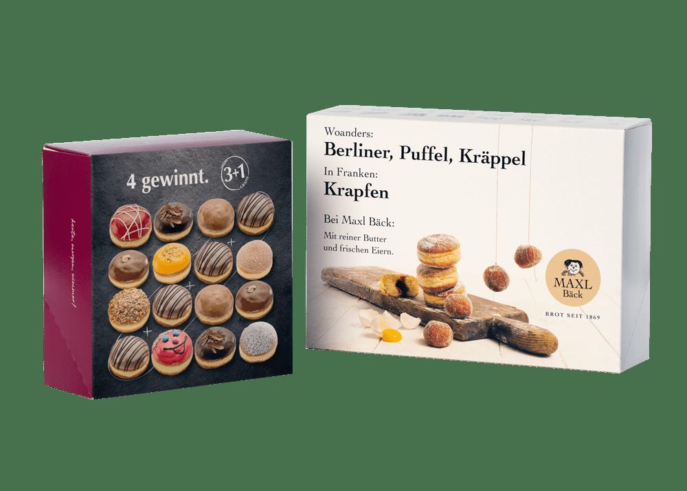 Tortenkartons oder Snackkartons - Krapfenkartons - Bagman Verpackungen