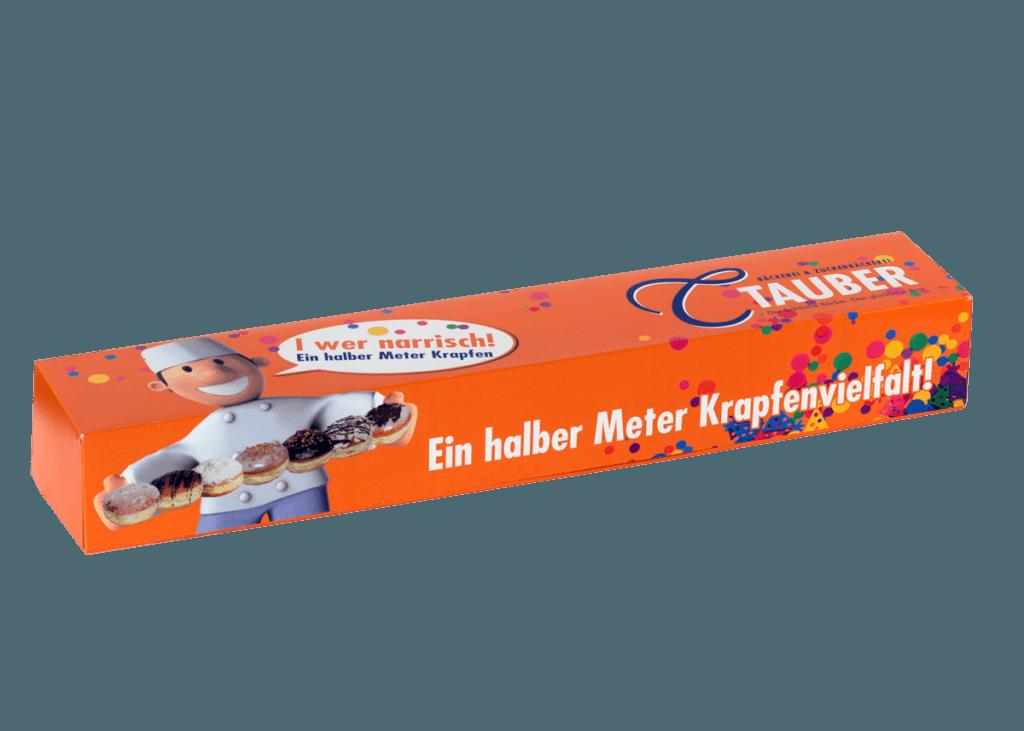 Krapfenkartons von Tauber Bäckerei